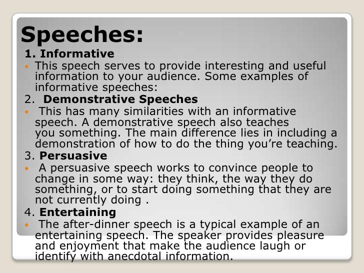 entertain speech example