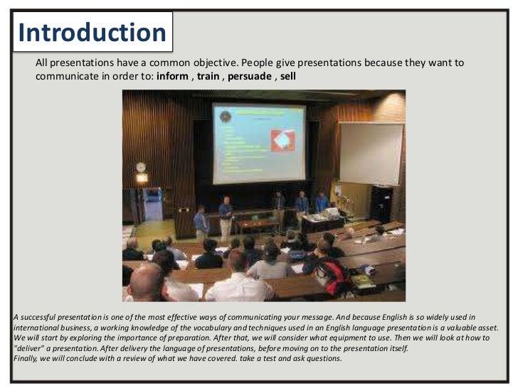 Public speaking slide