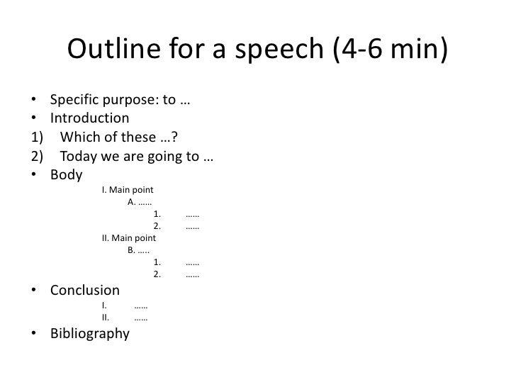 impromptu speech format