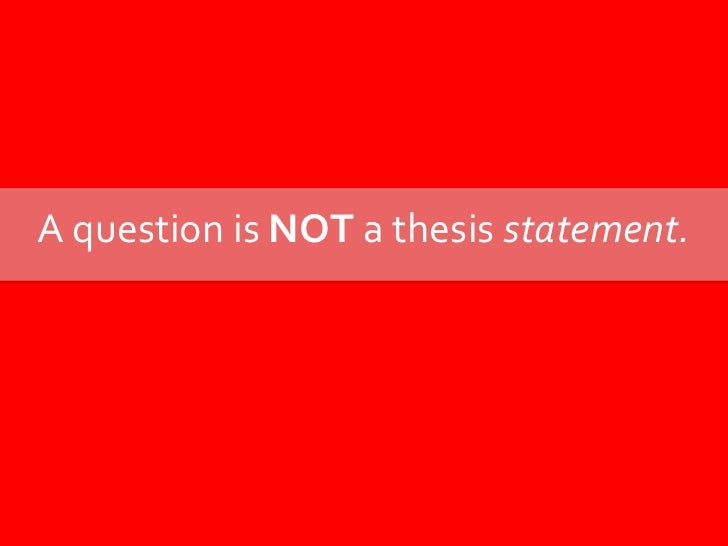 How in the world do you write a thesis?