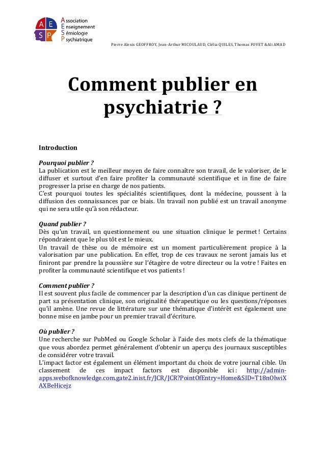 Publier en psychiatrie_aesp