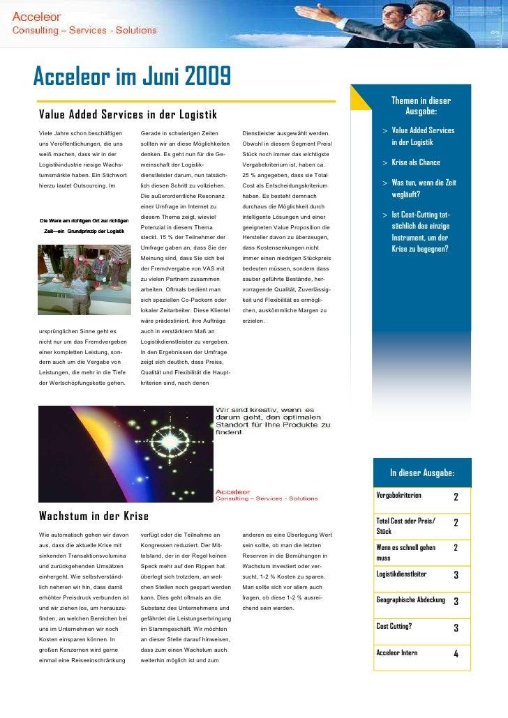 Publikation Acceleor Juni 2009