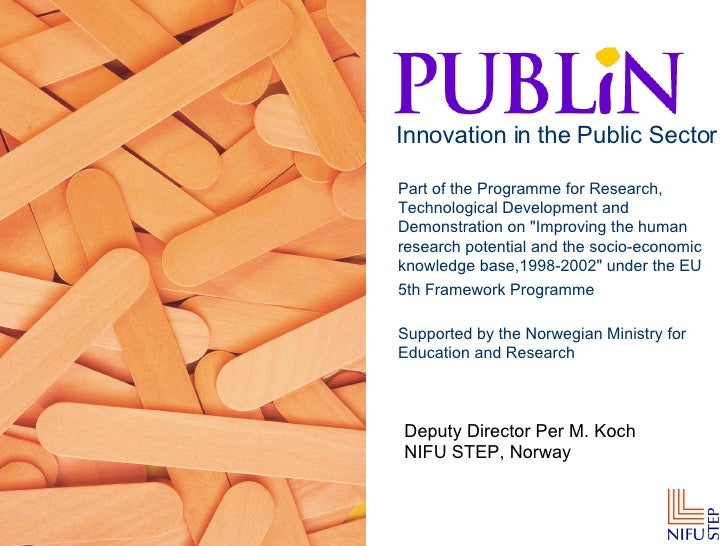 Publin Innovation in the Public Sector