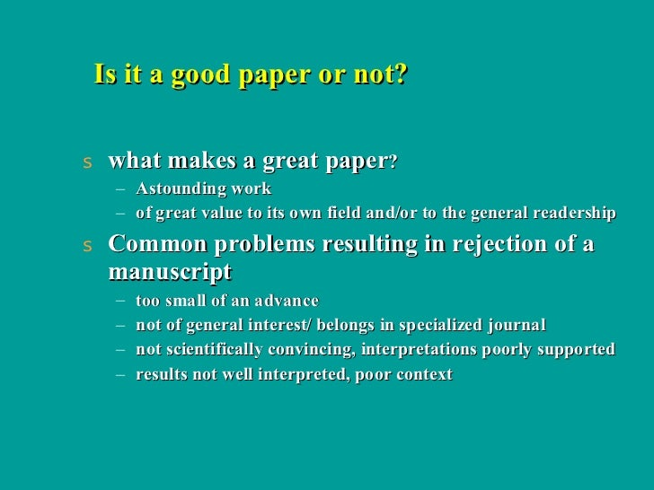 Is this a good paper???