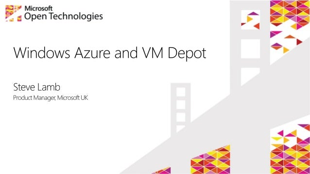 Published version without demos of 200613 steve's talk on vm depot and azure in education