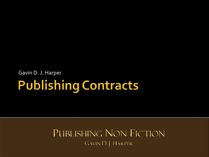 Publishers Contracts