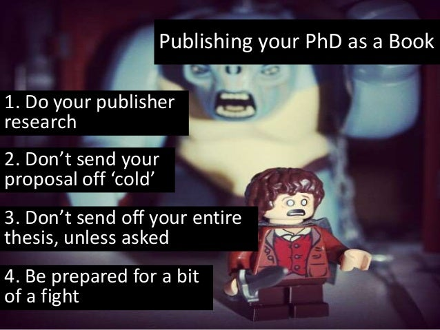 Publishing your phd thesis