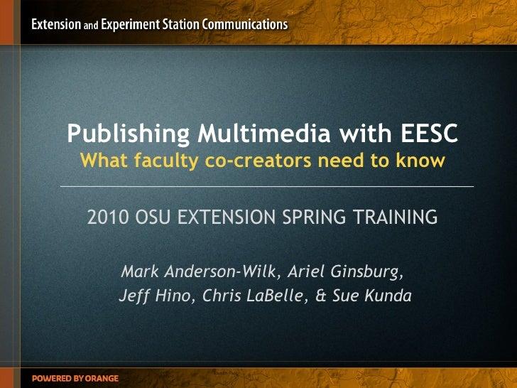 Publishing Multimedia with EESC