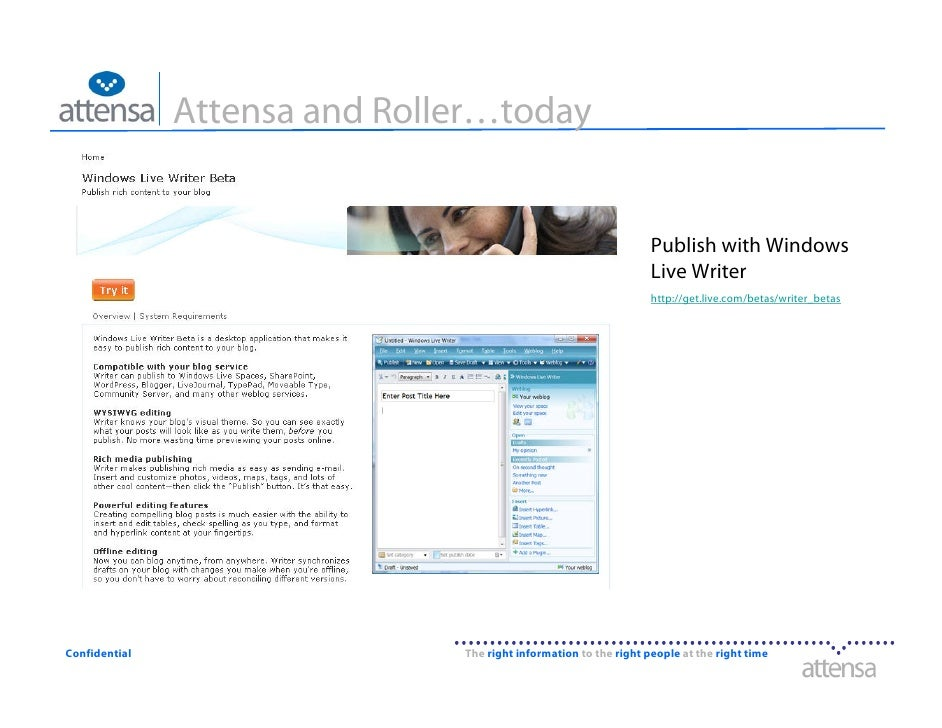 Attensa and Roller…today                                                                      Publish with Windows        ...