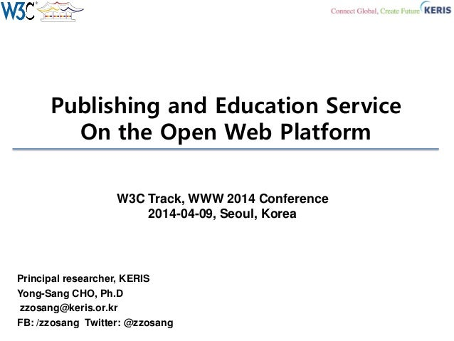 Publishing and Education Service on the Open Web Platform