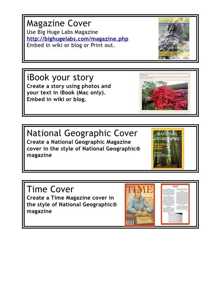 Publishing choices