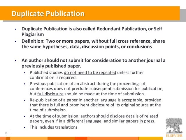 How to write a paper for publication