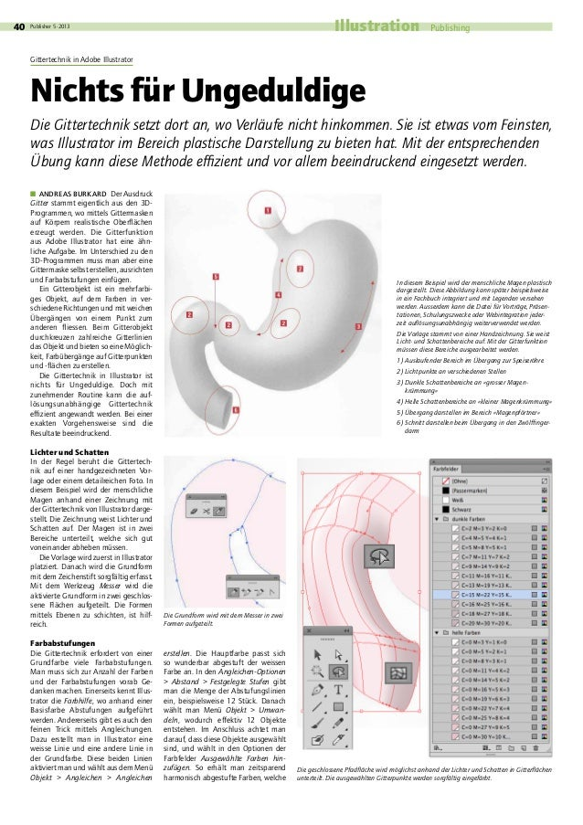 Publisher 5·2013  IllustrationPublishing40 �ANDREAS BURKARD Der Ausdruck Gitter stammt eigentlich aus den 3D- Progra...