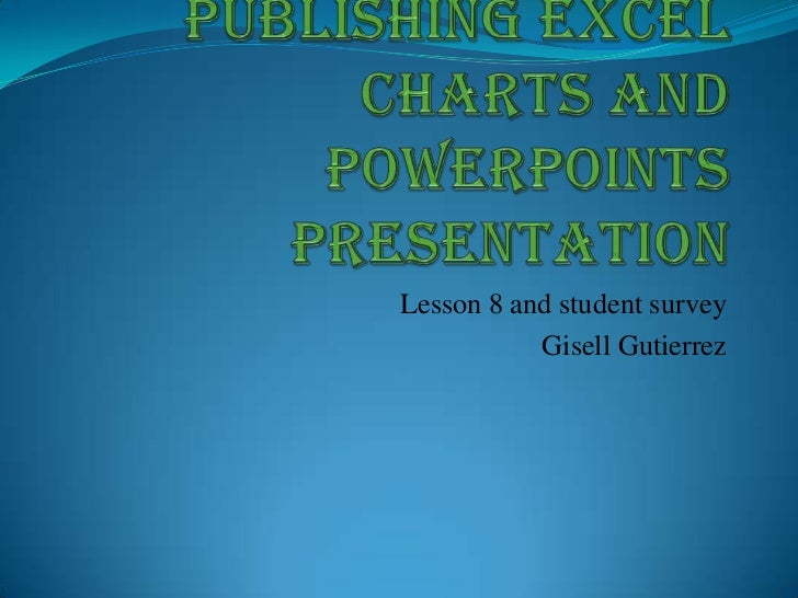 Publishing excel charts and power points presentation