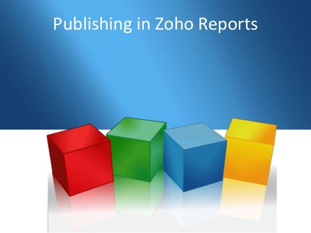 Publishing in Zoho Reports