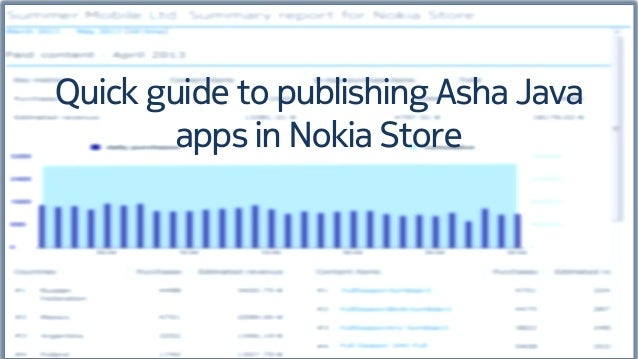 Quick guide to publishing Asha Java apps in Nokia Store