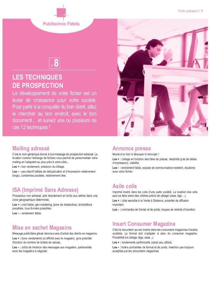 Publitechnic techniqueprospection