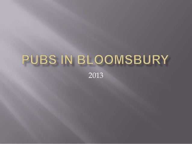 Pubs in bloomsbury