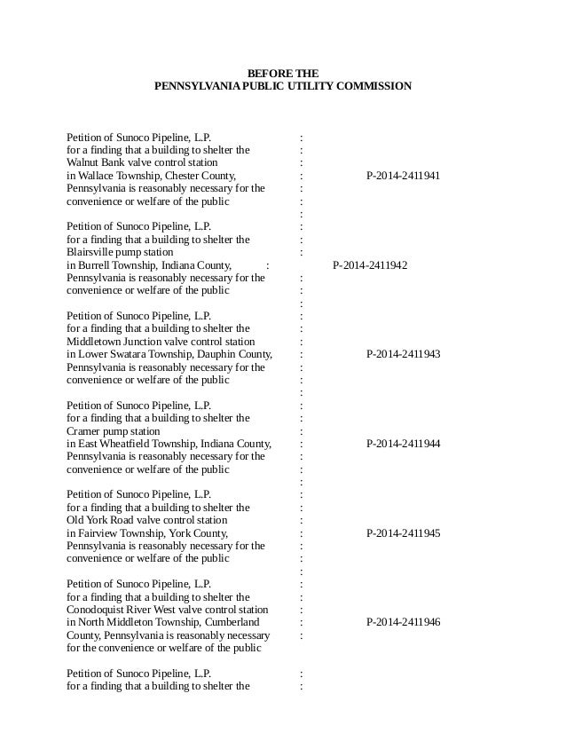 PA Administrative Law Decision Rejecting Mariner East Pipeline as a Public Utility