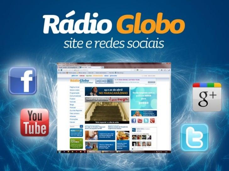 Rádio Globo - site e redes sociais