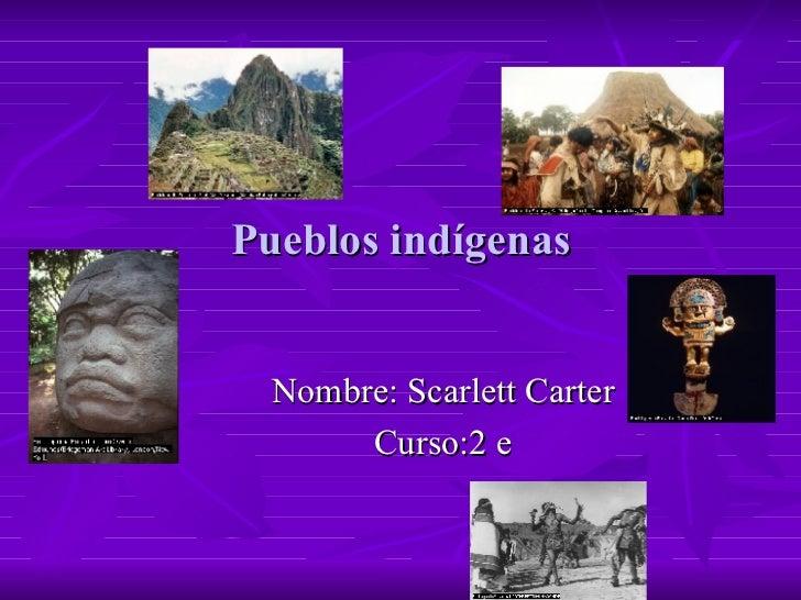 Pueblos indígenas Nombre: Scarlett Carter Curso:2 e
