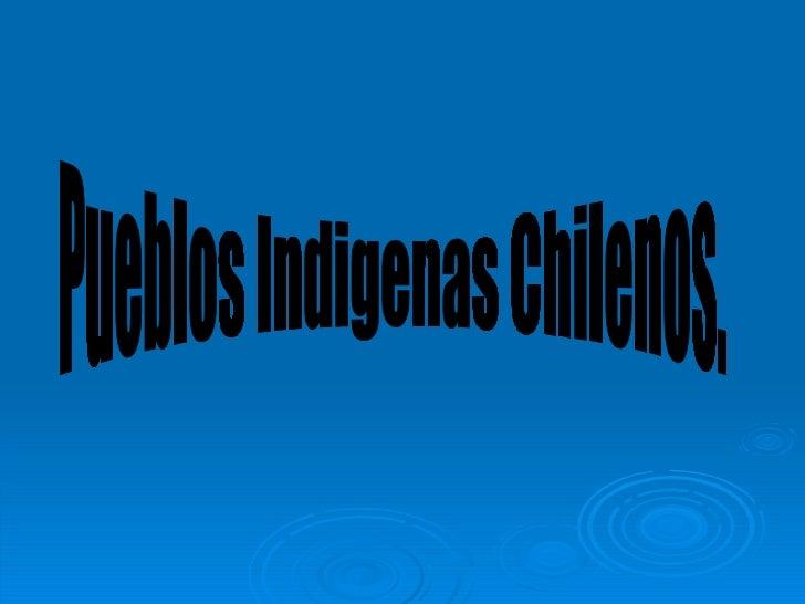 Pueblos Indigenas Chilenos.