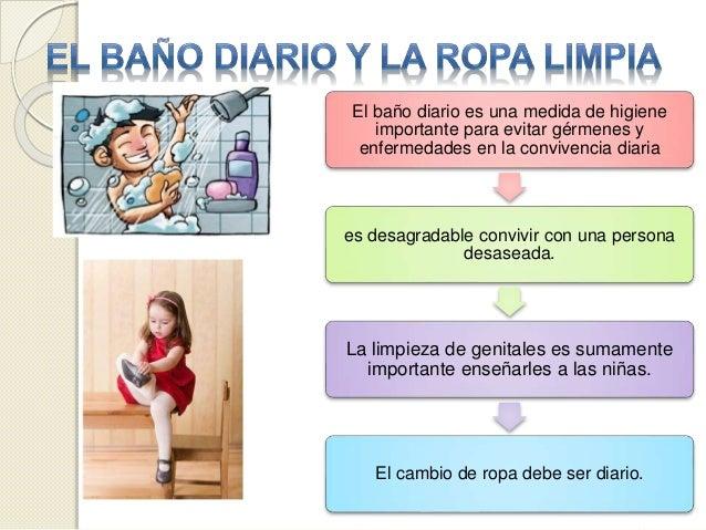 Imagenes De Baño Diario:el baño diario es una medida de higiene importante para