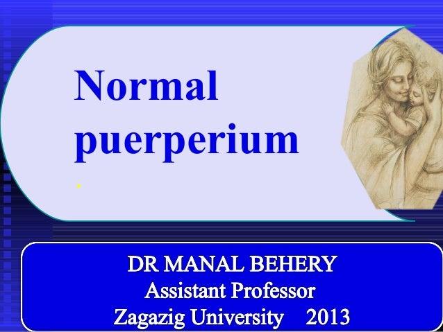Normalpuerperium.