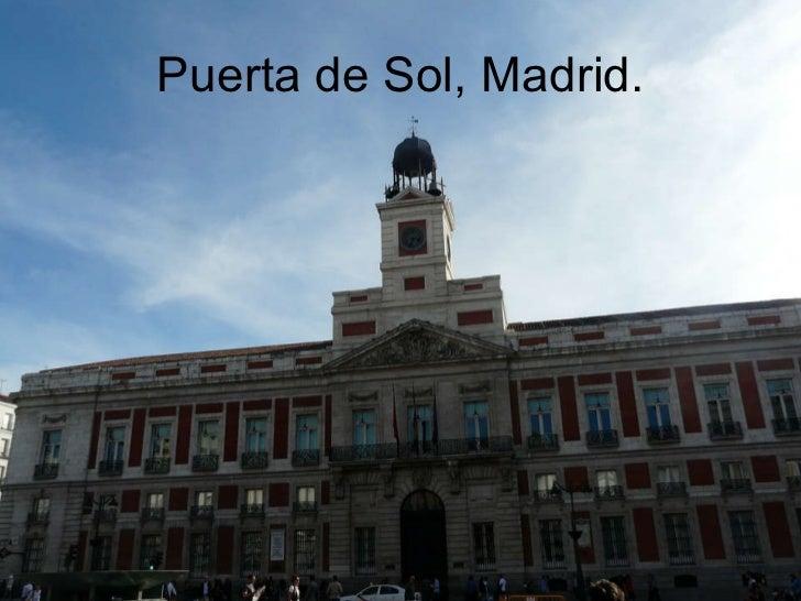 Puerta de Sol, Madrid.