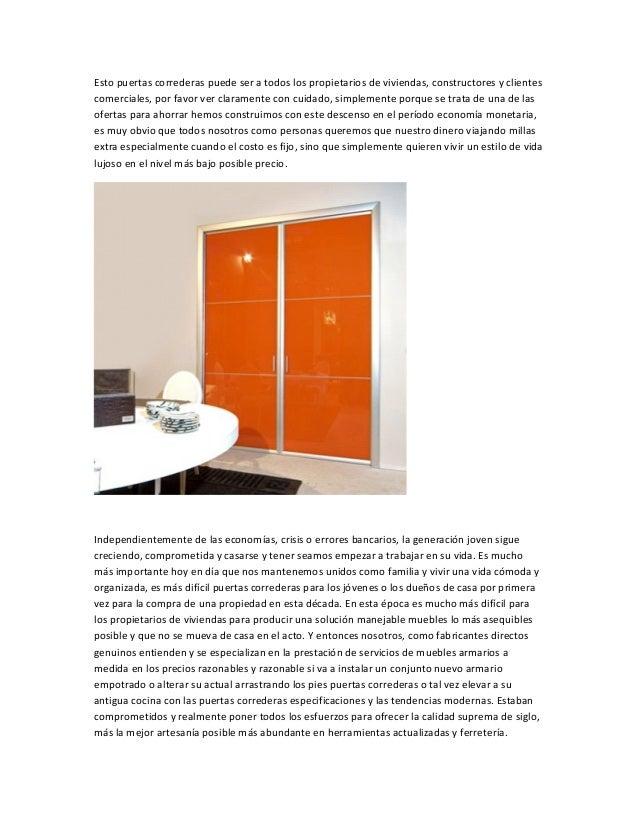 Esto puertas correderas puede ser a todos los propietarios de viviendas, constructores y clientes comerciales, por favor v...