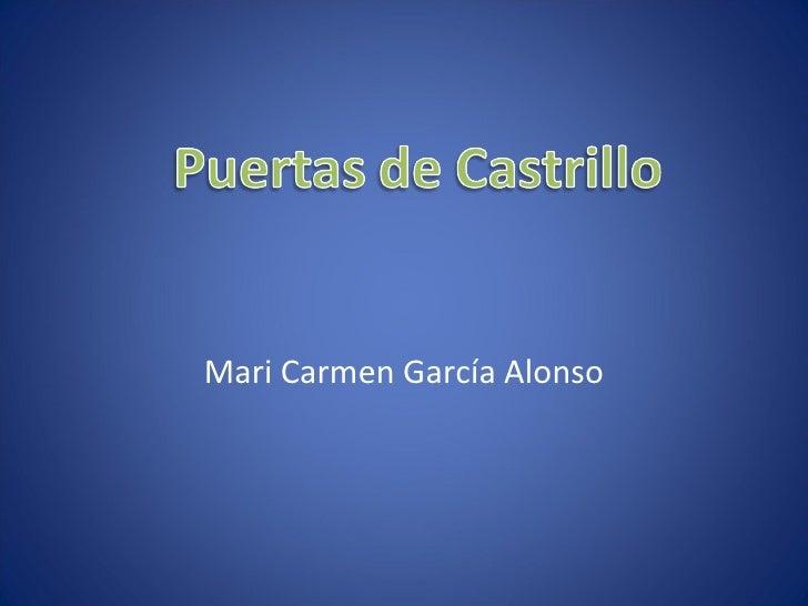Mari Carmen García Alonso