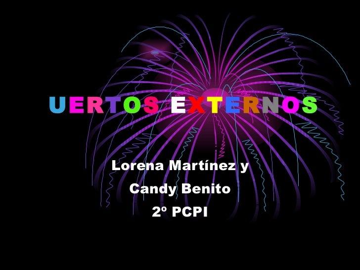 P U E R T O S  E X T E R N O S   Lorena Martínez y Candy Benito  2º PCPI