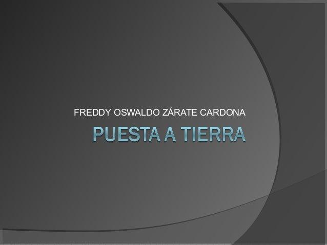 FREDDY OSWALDO ZÁRATE CARDONA