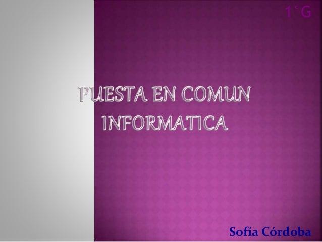 1°G  Sofía Córdoba