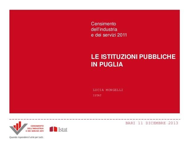 L. Mongelli -  Le istituzioni pubbliche in Puglia