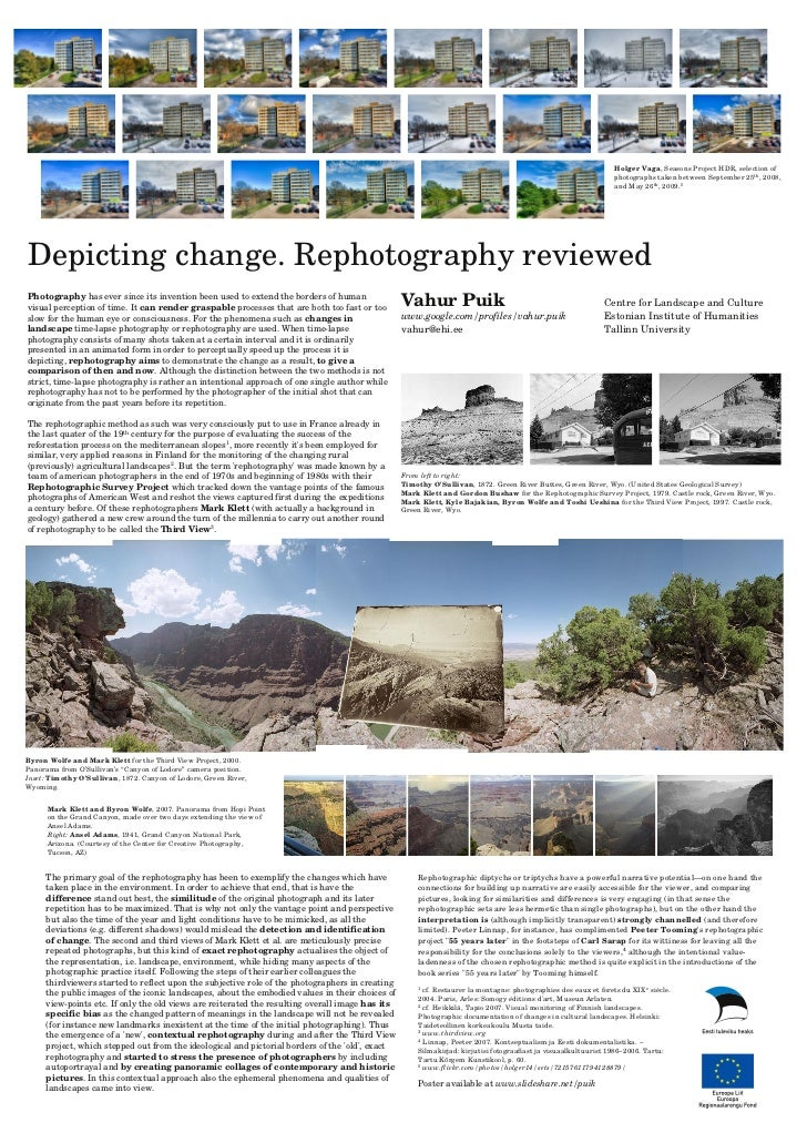 Depicting change. Rephotography reviewed