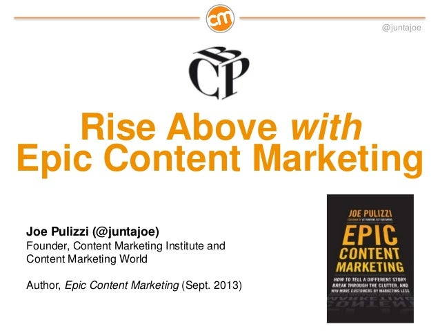 Rise Above with Epic Content Marketing - Hamburg, Germany Best of Corporate Publishing