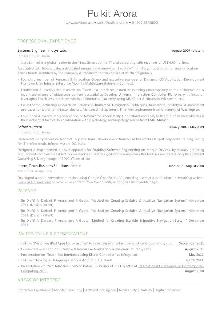 Pulkit Arora's Resume