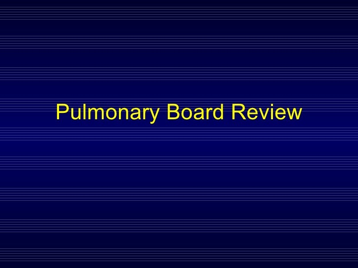 Pulmonary Board Review 2008