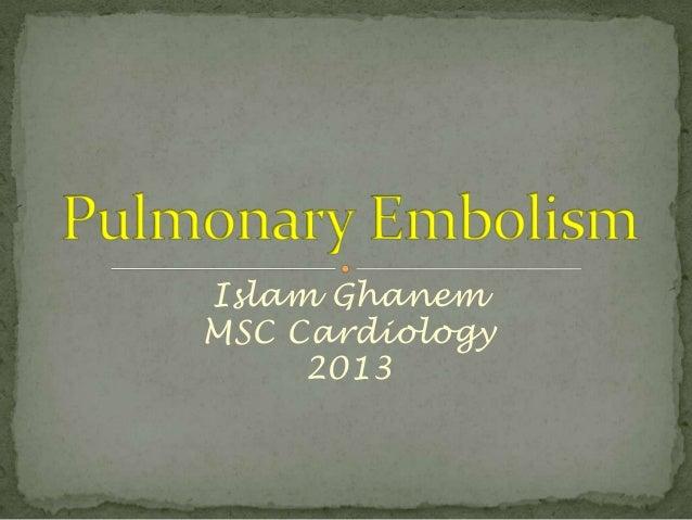 Islam Ghanem MSC Cardiology 2013