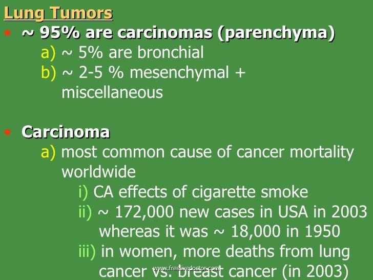 Pulmonary pathology tumor pleura
