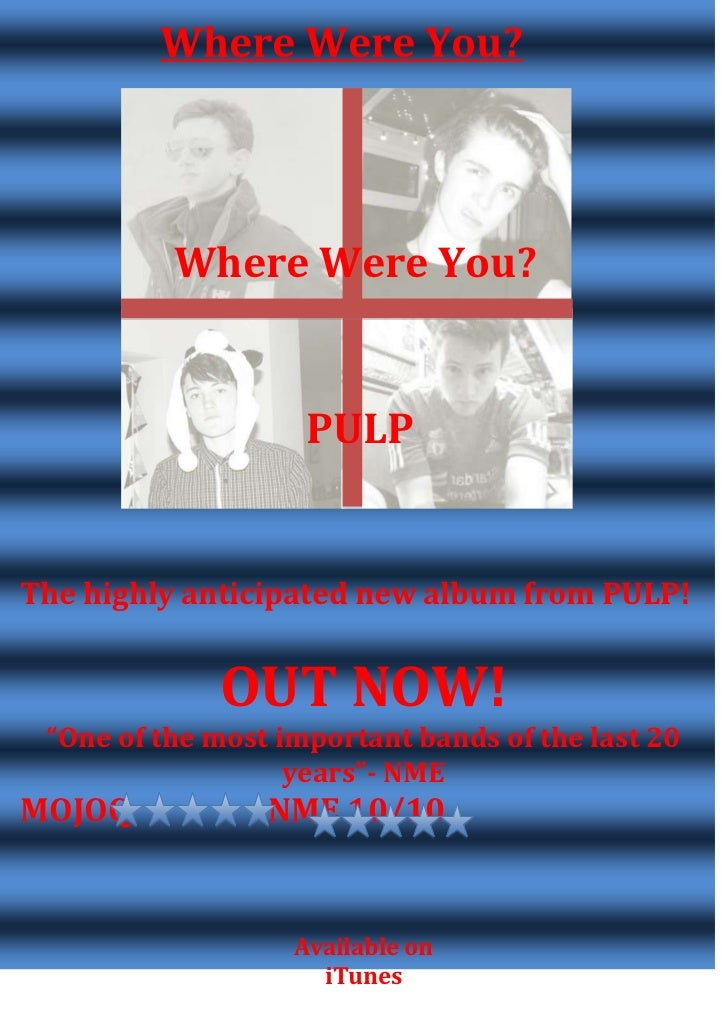 Where Were You?          Where Were You?                    PULPThe highly anticipated new album from PULP!             OU...
