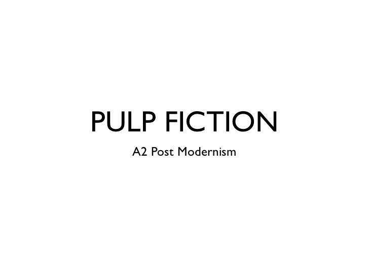PULP FICTION  A2 Post Modernism