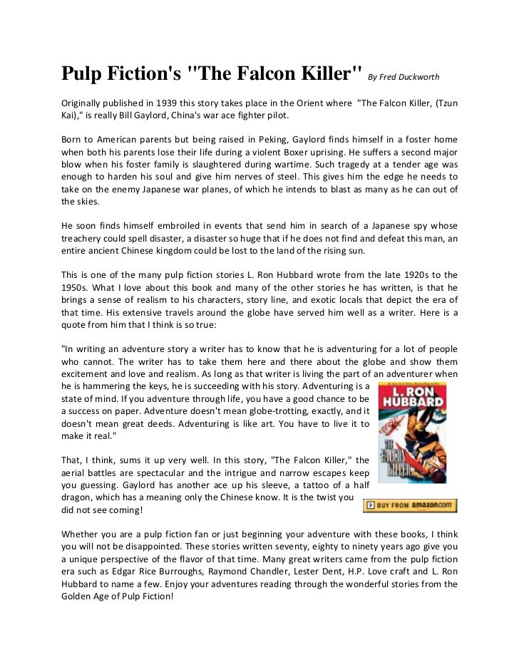 Pulp fiction the falcon killer