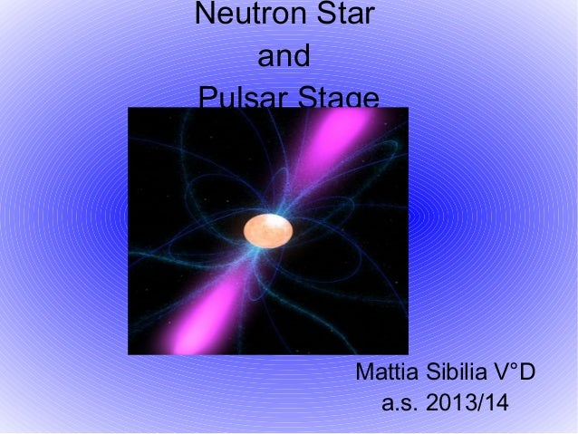 Pulsar Stage And Neutron Star