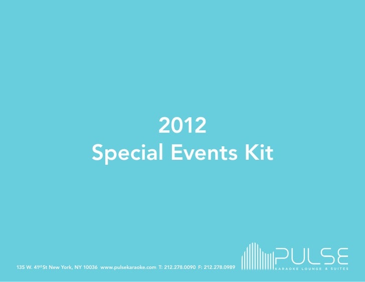 Pulse 2012 Events Kit