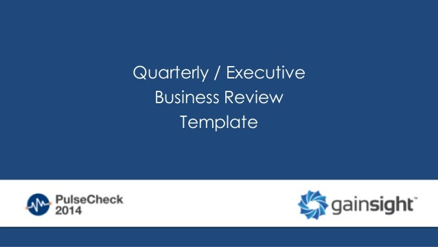 quarterly report sample