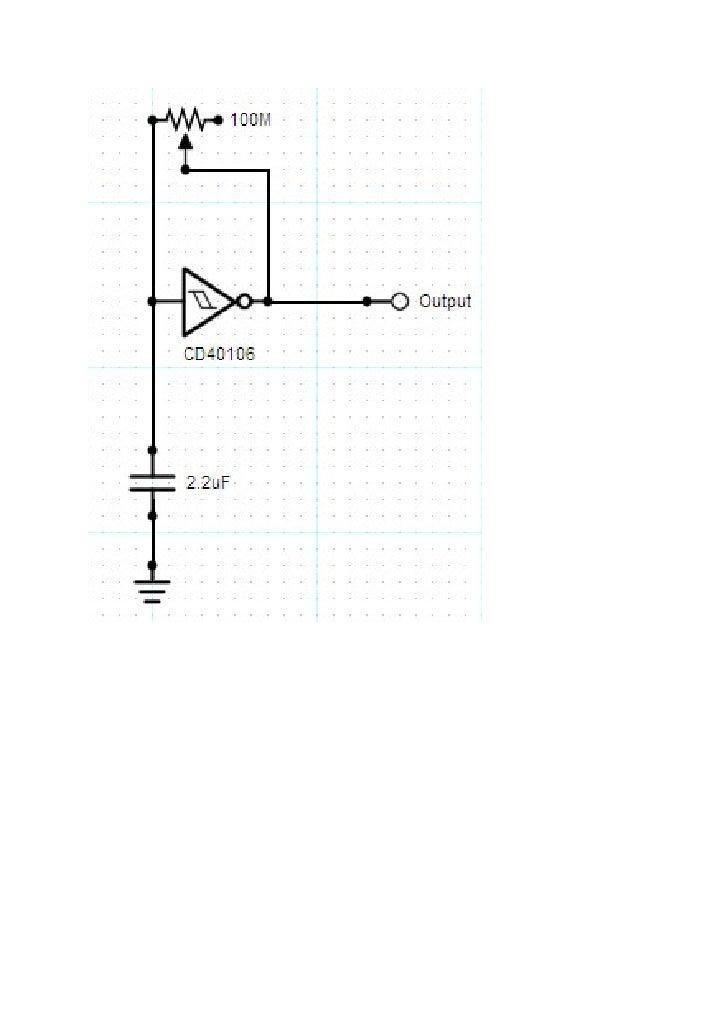 Pulse generator driven by 40106 hex schmitt inverter