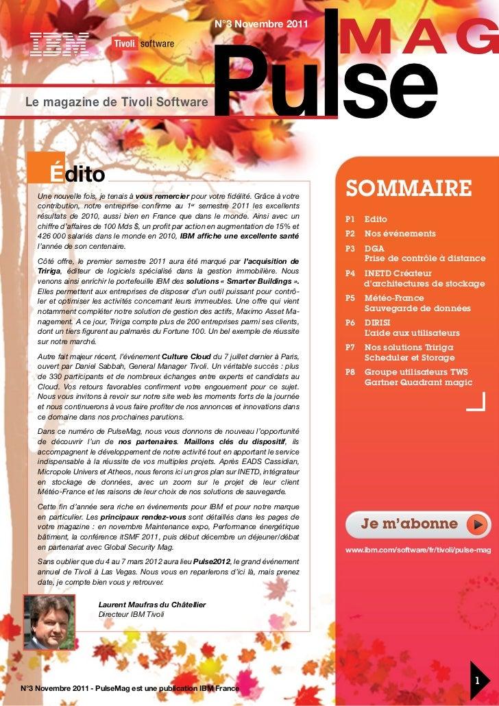 IBM Software - Pulse mag novembre 2011