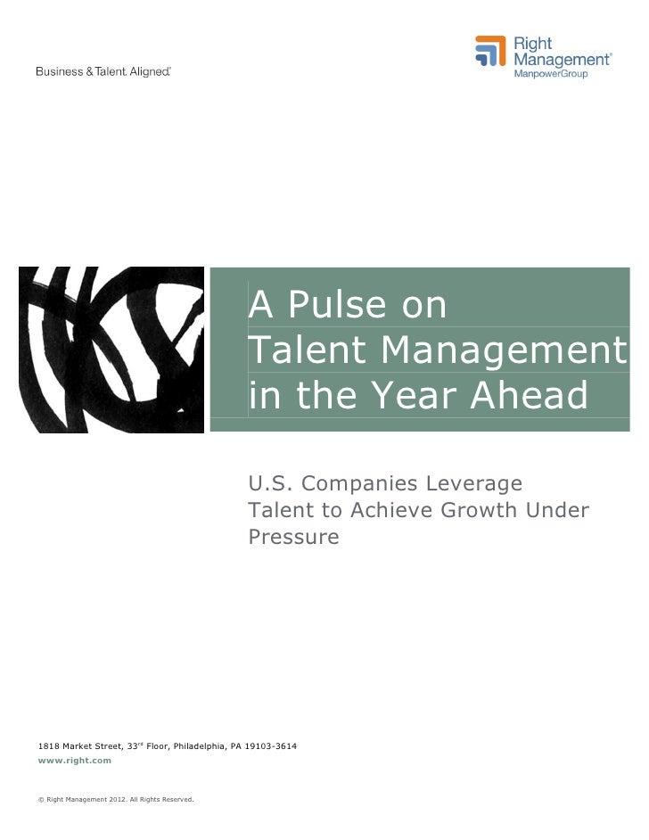 Pulse on Talent Management